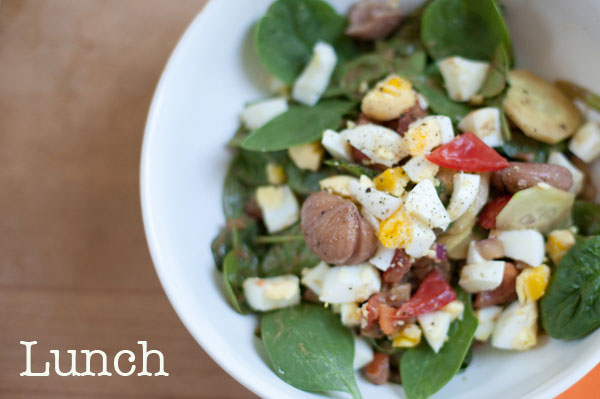 Day2Lunchspinachsalad