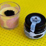 truffle caviar with saffron panna cotta