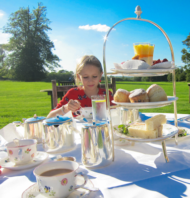 minty takes tea at Lucknam Park