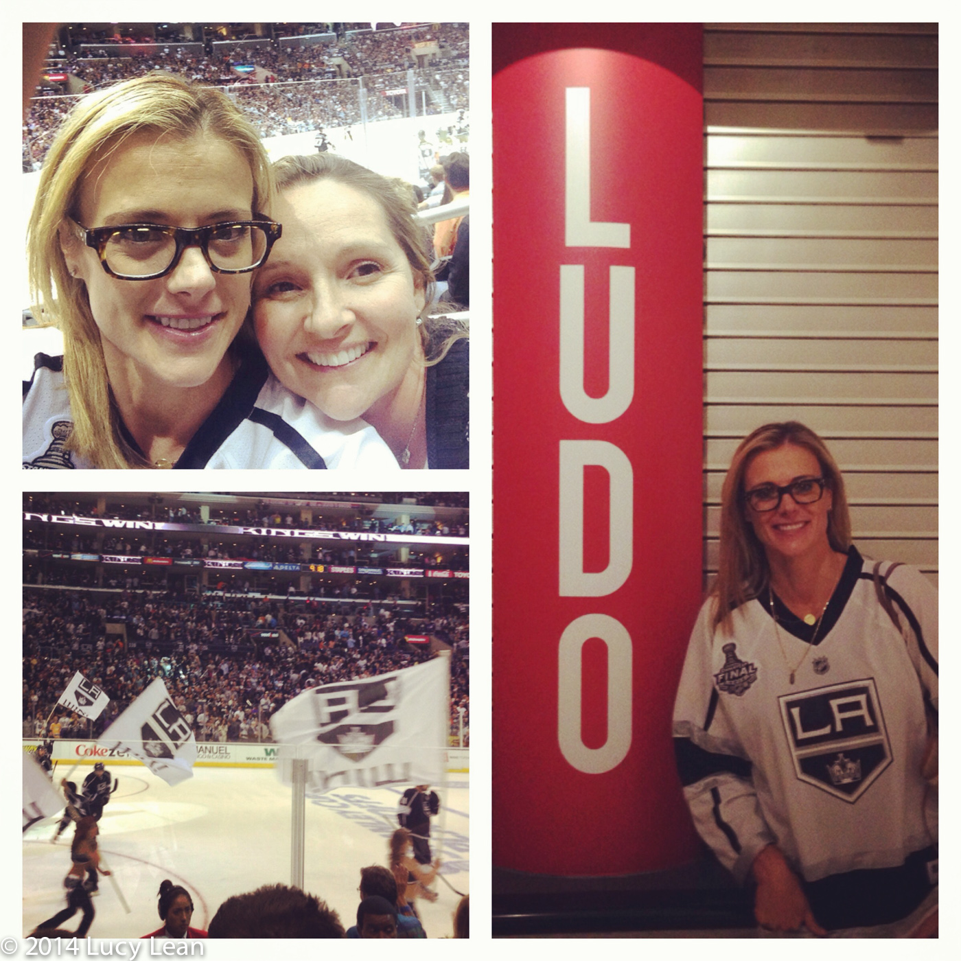 Krissy Lefebvre and Lucy Lean at Staples Center for LA Kings game