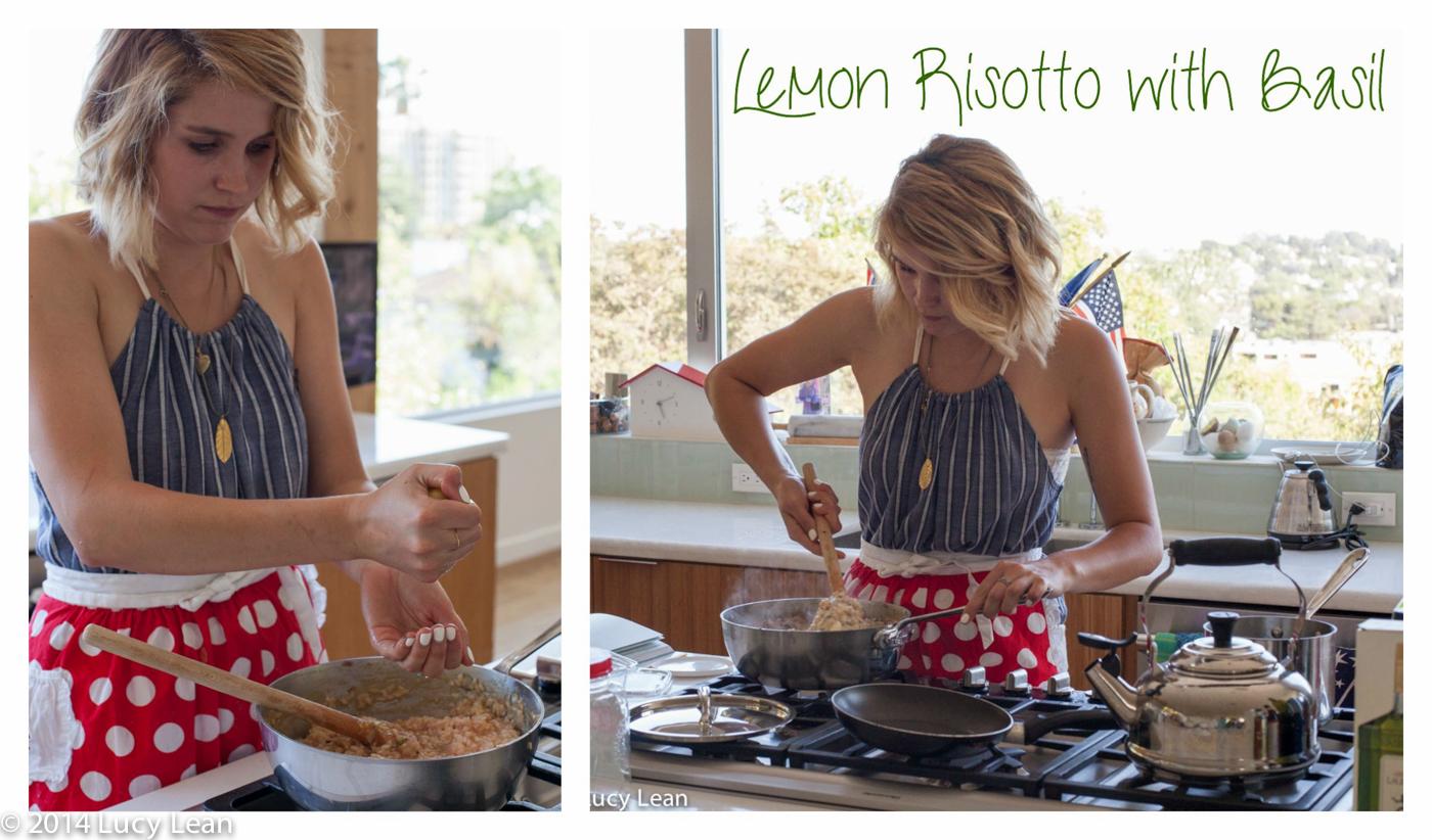 Ashlee cooks Lemon Risotto with Basil