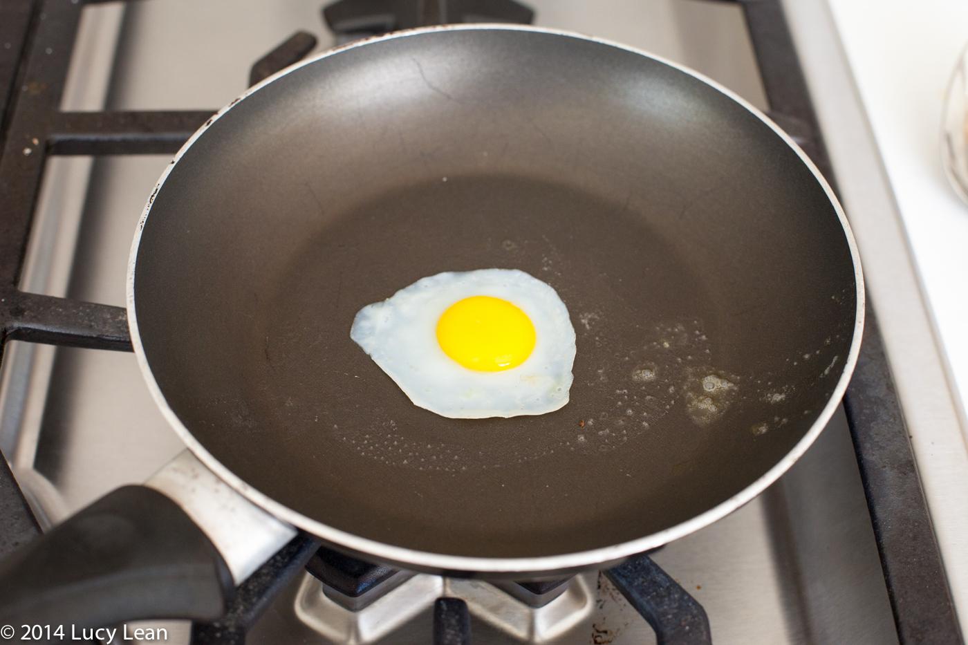 fried quails egg