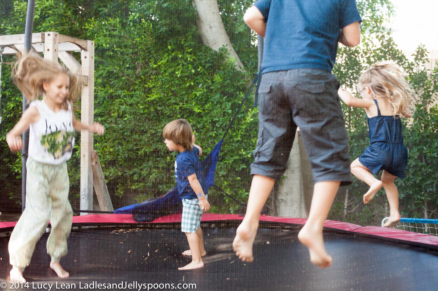 trampolining fun