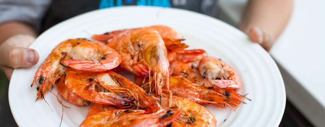 Boy on Grill – Easy Grilled Shrimp