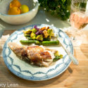 Grilled Trout with Baby Veggies and Jolie-Pitt Rosé