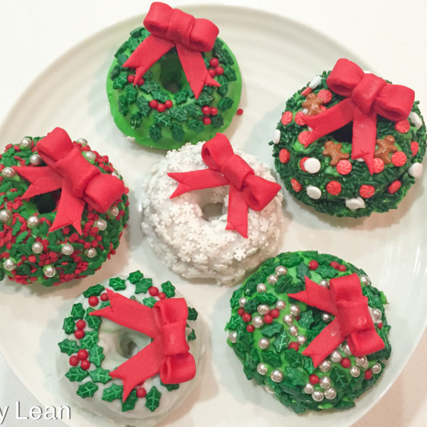 Christmas Donut Wreaths